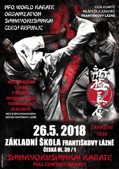 Liga kumite Shinkyokushin Karate 2. kolo 26. 5. 2018 Františkovy Lázně