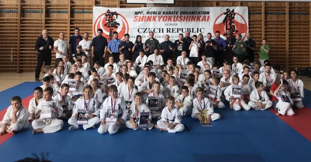 Liga kumite Shinkyokushin-Karate 3. kolo Plzeň 6. 10. 2018