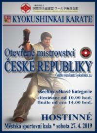 MČR v Kyokushin Karate 27. 4. 2019 v Hostinném